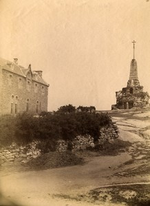 France Brittany Bretagne Tregastel Calvary Old Photo Fougere 1880