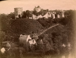 France Brittany Bretagne Tonguedec castle Old Photo Fougere 1880