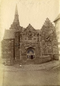 France Brittany Bretagne Perros Notre Dame de la Clarte Old Photo Fougere 1880
