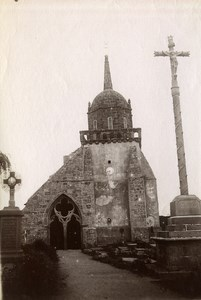 France Brittany Bretagne Perros Church Old Photo Fougere 1880