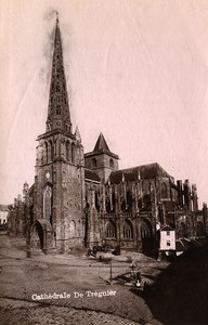 France Brittany Bretagne Treguier Cathedral Old Photo Fougere 1880