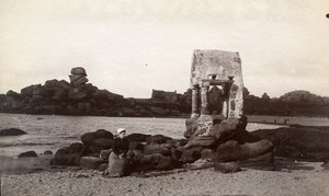 France Brittany Bretagne Edicule of Saint Guirriec Old Photo Fougere 1880