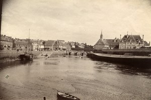 France Brittany Bretagne Lannion Harbor Old Photo Fougere 1880