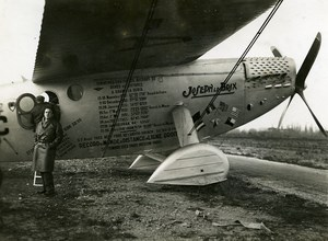 France Istres Airport Joseph Le Brix Plane Codos Rossi Old Photo Monsarrat 1935