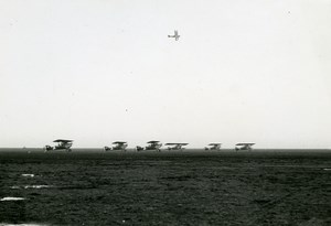 France Istres Aviation Take off Fourth Squadron for Africa Old Photo 1936