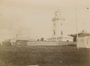 France Sainte Adresse Lighthouse of la Heve Old Amateur Photo Scrive 1900