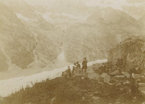 France Alps Glacier Mountain Holiday Family Old Amateur Photo Scrive 1900