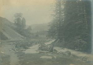 France Pyrenees near Cauterets Mountain Path Stream Amateur Photo Scrive 1900