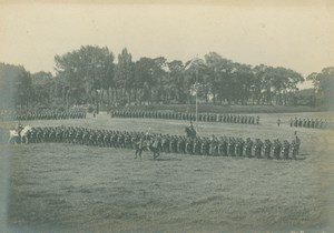 France Lille or Douai Military Parade Old Amateur Photo Scrive 1900