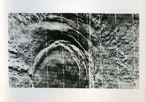 Space Conquest Crater on Mars Planet old Photo 1971