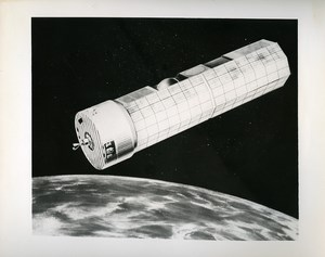 USA Space Conquest Nasa Satellite Artist's Concept old Photo 1973
