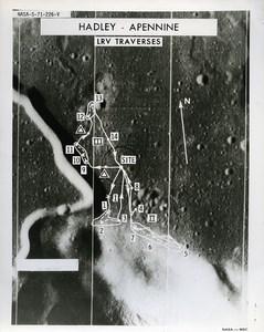 USA Space Rocket Apollo 15 Moon Landing Area old Photo Nasa 1971