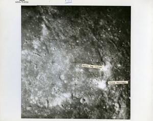 USA Space Rocket Apollo 16 Landing Site old Photo Nasa 1971