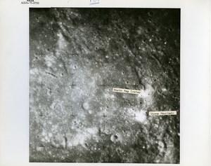 USA Space Rocket Apollo 16 Landing Site old Photo Nasa 1971