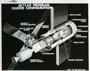 USA Space Rocket Skylab Saturn Workshop Artist Concept old Photo Nasa 1970