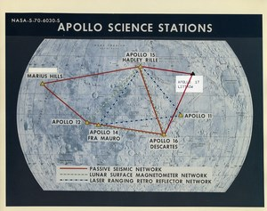 USA Space Moon Missions Apollo Science Stations old Photo Nasa c1970