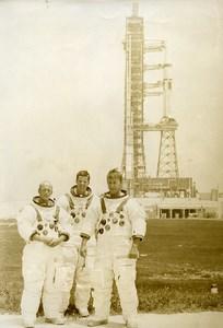 USA Cape Kennedy Saturn Rocket Skylab Astronauts Conrad Weitz Kerwin Photo 1973