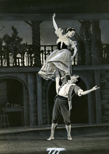 Paris Dance Ballet Bolshoi Mirandolina of Vassilenko Old Photo Bernand 1958