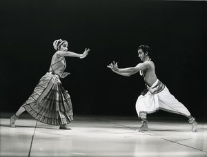 Paris Spectacle Hindu Dance Ballet from India Old Photo 1970