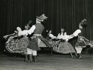 France Paris Polish ? Folk Dance Ballet Old Photo Rosa 1970