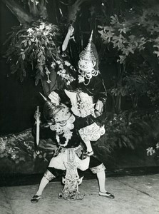 France Paris Folk Dance Burma National Ensemble Old Photo 1980