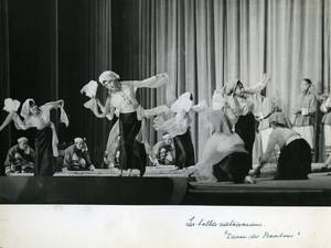 France Paris Folk Ballet Vietnamese Bamboo Dance Old Photo 1970