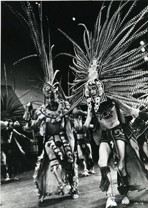 France Paris Dance Folk Ballets of Mexico Costumes Old Photo 1970