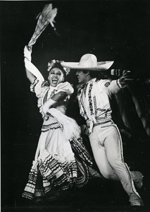 France Paris Dance Folk Ballets of Mexico Old Photo 1970