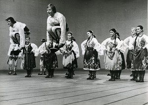 France Paris SLASK Polish National Folk Ensemble Dance Old Photo 1960