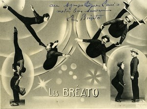 France Music Hall Circus Artist Les Bréato Autograph Old Photo 1960