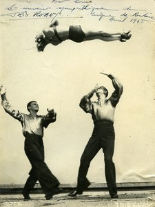 France Roubaix Circus Artist Trio Roany Autograph Old Photo Dannes 1960
