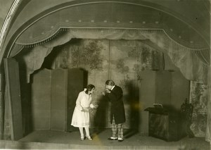 France Paris Theater Actor Audition Stage Old Photo Roosen 1928