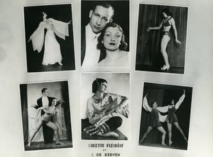 France Colette Fleuriot Music Hall Circus Artist Old Photo Kehren 1960