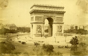 France Paris Arc de Triomphe Panorama old Photo Champagne 1880