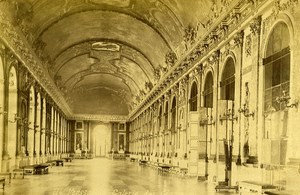 France Versailles Castle The Hall of Mirrors old Albumen Photo Champagne 1880