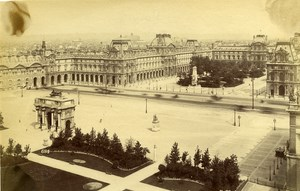 France Paris The New Louvre Panorama old Albumen Photo Champagne 1880