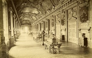 France Paris Louvre Museum Apollon Gallery old Albumen Photo Champagne 1880