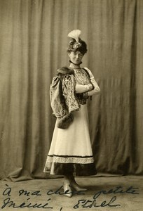 Denmark Woman Fashion Costume old Photo Peter Elfelt 1900