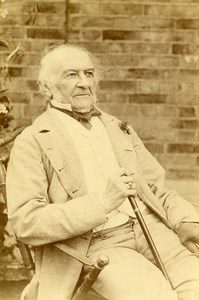 United Kingdom Prime Minister William Gladstone Old Cabinet Photo Byrne 1890