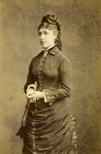 France Paris Mrs Villemin Vichy French Fashion old Cabinet Photo Chambay 1880