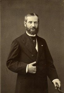 France Paris Unidentified Man Autograph old Cabinet Photo Chambay 1877