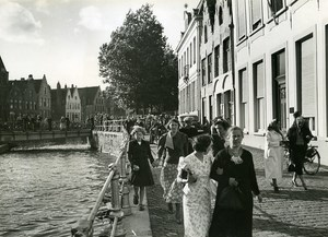 Belgium Bruges Film L'Empreinte du Dieu by Leonide Moguy Cinema Old Photo 1939