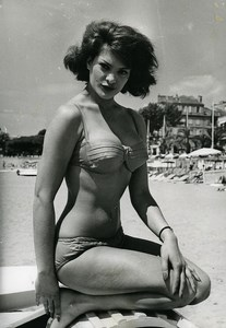 France Cannes Film Festival Actress Sylvia Sorrente Old Photo 1961