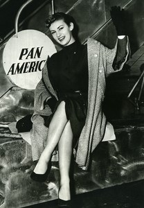 Cinema Actress Claude Borelli at New York Pan American Old Photo 1960
