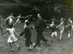 France Film Actor Gabriello Chansonnier Children Dedicace Old Photo 1943