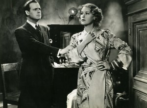 USA Film Actor Grace Moore & Carminati in One Night of Love Old Photo 1934