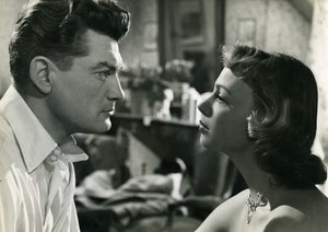 France Jean Marais & Danny Robin Cinema The Lovers of Midnight Old Photo 1953