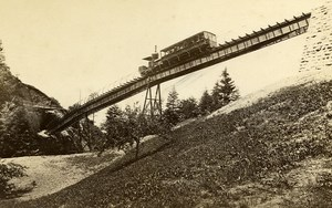Switzerland Railway Righi Bridge Train Old Photo Cabinet Garcin 1870