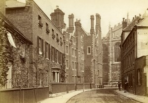 United Kingdom Eton Street Old Photo Cabinet Hills & Saunders 1870