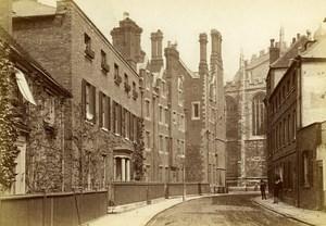 United Kingdom Eton Street Old Photo Cabinet Hills & Saunders 1870